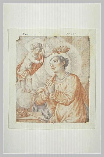 L'Enfant Jésus couronnant sainte Ursule