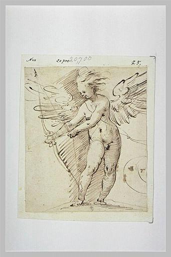 Cupidon bandant son arc