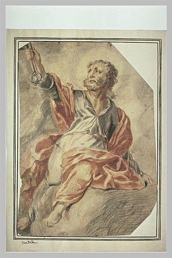 Saint Pierre sur des nuages