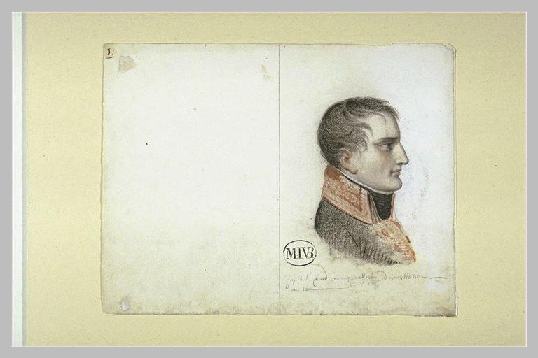 Napoléon Bonaparte, premier Consul, de profil, tourné à droite