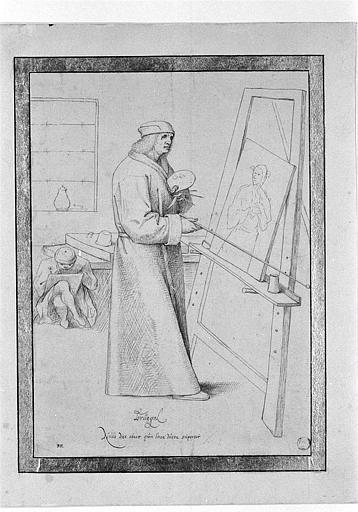 Peintre à son chevalet