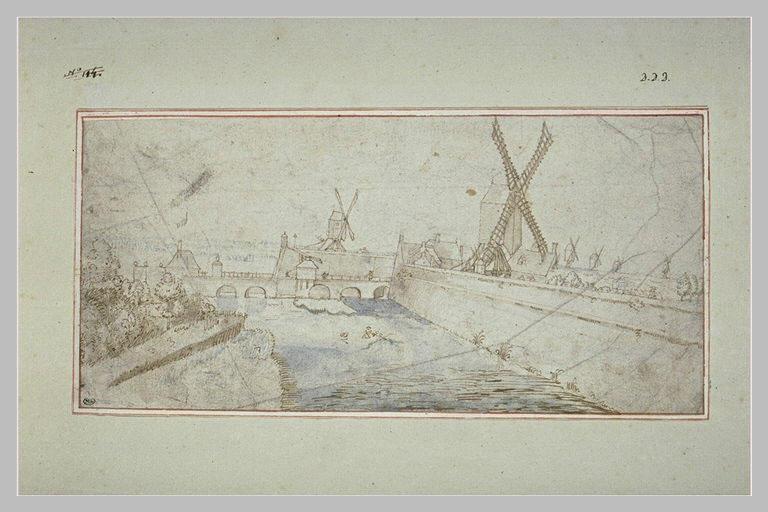Remparts de la ville d'Anvers, au nord, près de la porte Slijkpoort