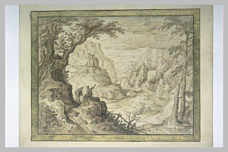 Torrent et une route au fond d'une gorge rocheuse