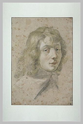 Portrait de jeune homme, de trois quarts à droite_0