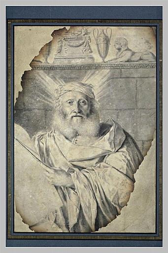 Moïse tenant les Tables de la Loi