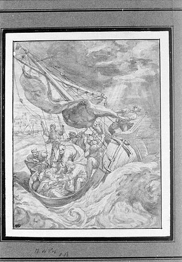 Christ endormi dans la barque pendant l'orage_0
