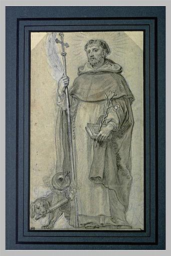Saint Dominique tenant une croix dans la main droite_0