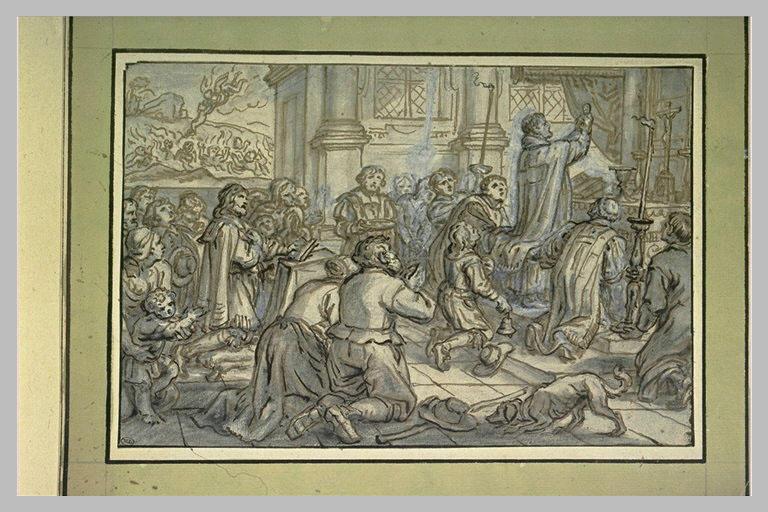 L'Elévation, pendant la messe