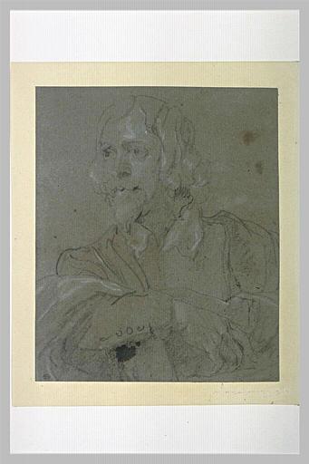 Etude pour un portrait d'homme, en buste