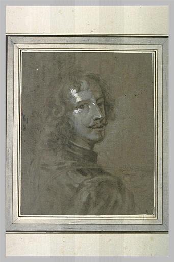 Portrait de van Dyck en buste, de trois quarts à droite