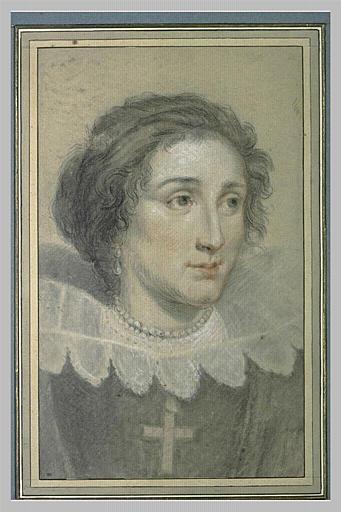 Portrait d'une jeune femme, en buste