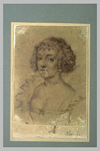 Portrait d'une jeune dame en corsage décolleté