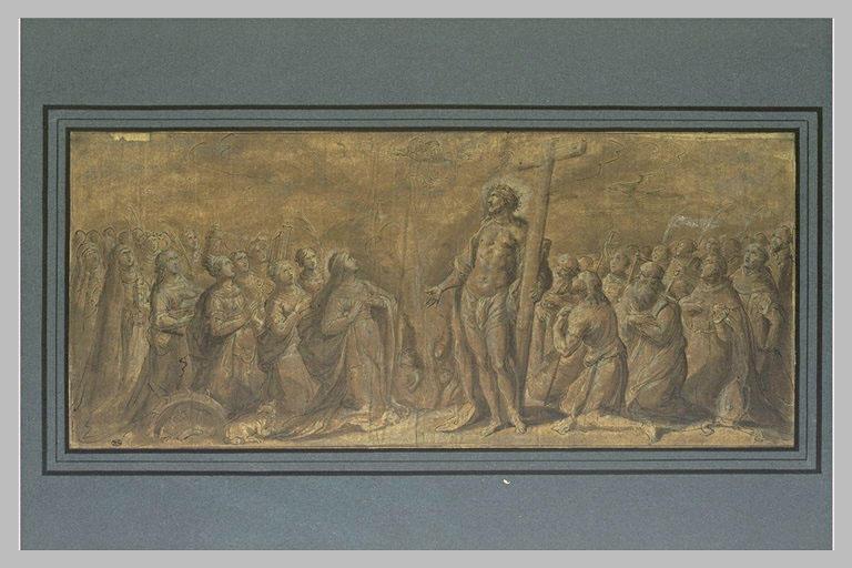 Le Christ et les saints priant Dieu de délivrer les âmes
