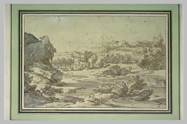 Paysage italien traversé par un cours d'eau