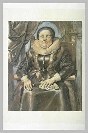 Portrait de femme assise dans un fauteuil