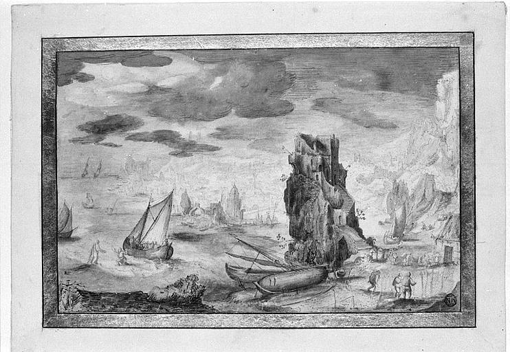 Le Christ et saint Pierre marchant sur les eaux de la mer de Galilée