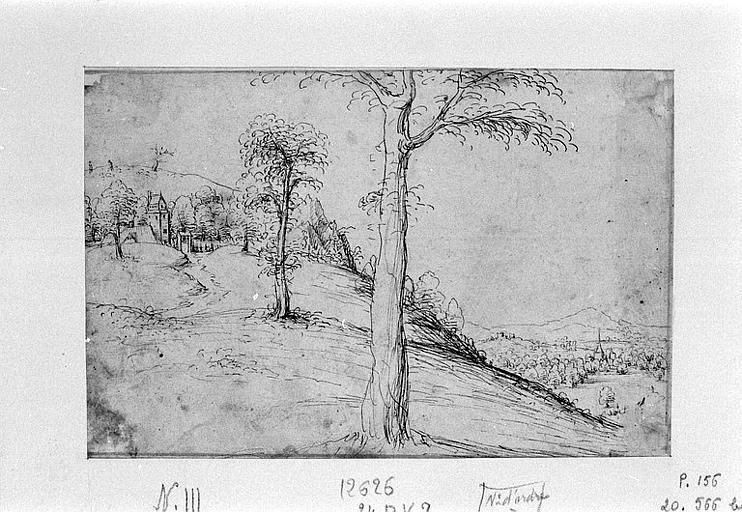 Flanc d'une colline dominant une vallée