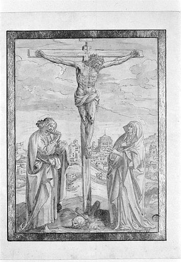 Saint Jean et la Vierge au pied de la croix