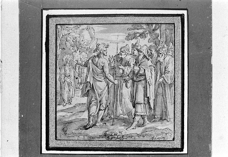 Saint Jean désignant le messie