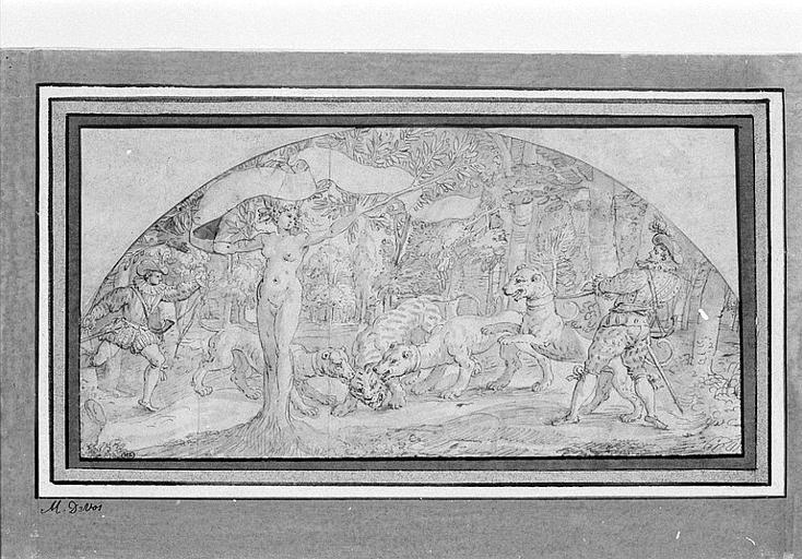Composition symbolique avec Daphné et une chasse au tigre_0
