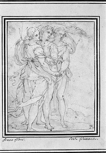 Trois figures de femmes debout