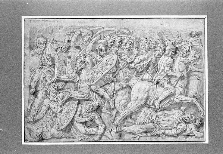 Copie du bas-relief de l'attique, côté ouest de l'Arc de Constantin, à Rome