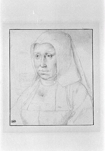 Portrait d'une dame, en buste