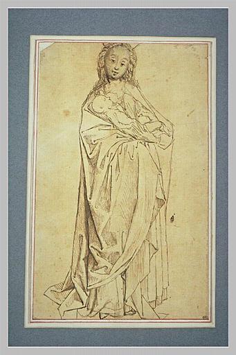 La Vierge debout donnant le sein à l'Enfant