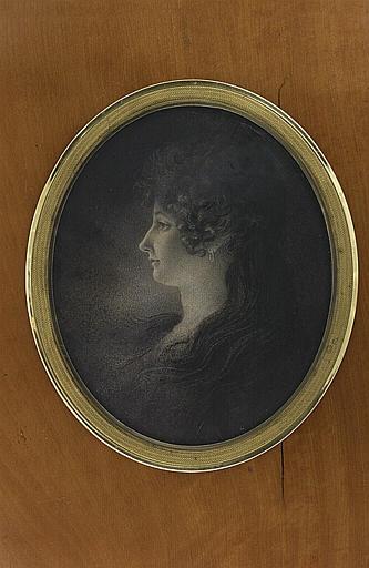 GIRODET DE ROUCY-TRIOSON Anne Louis : Portrait de jeune femme, de profil
