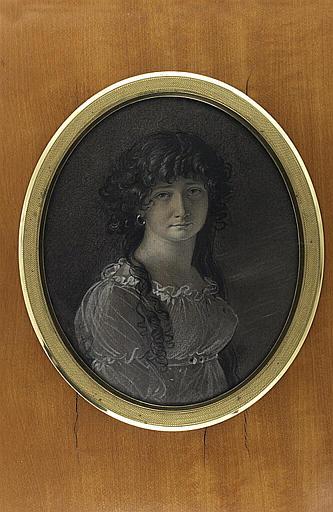 GIRODET DE ROUCY-TRIOSON Anne Louis : Portrait de femme, vue de face