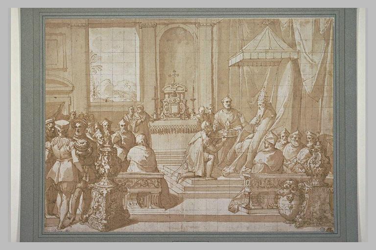Jules III restituant le Duché de Parme à Ottavio Farnèse