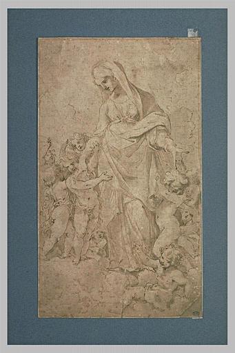 Femme avec sept enfants, allégorie de la Providence