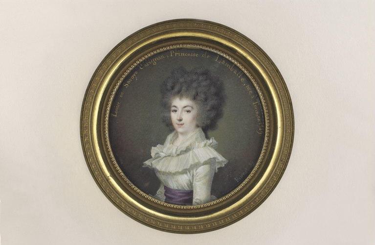 BORNET Claude : Portrait de la princesse de Lamballe, à mi-corps