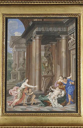 ORLEY Richard II van : Hercule, enfant, étouffant des serpents