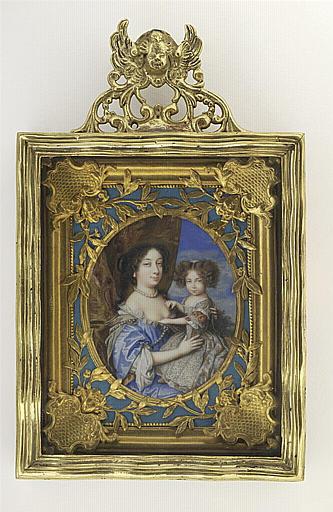 Portrait présumé d'Henriette d'Angleterre avec sa fille