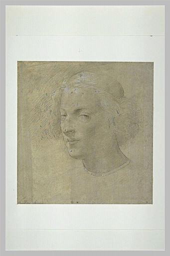 SCIARPELLONI Lorenzo : Tête de jeune homme coiffé d'une calotte