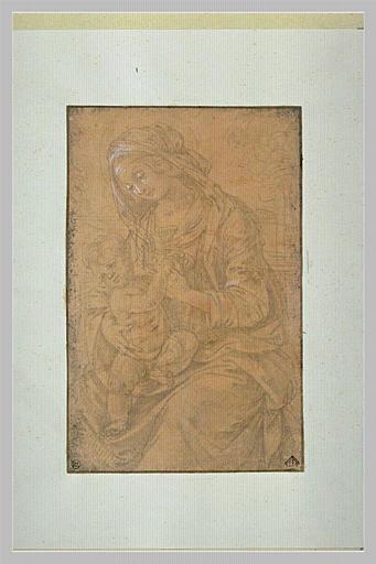 SCIARPELLONI Lorenzo (attribué à) : Vierge à l'Enfant