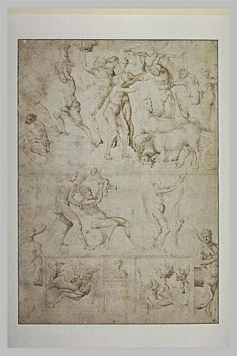 Etudes de figures et de scènes d'après l'antique