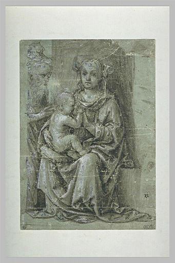 La Vierge assise allaitant l'Enfant devant saint Joseph