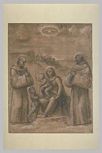 Vierge à l'Enfant avec saint Jean enfant, saint Sébastien, saint Bernardin