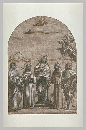 Vierge de l'Annonciation entre quatre saints