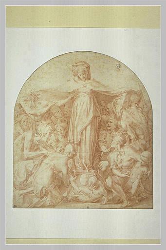 ROSSO Fiorentino (d'après), anonyme : Vierge de Miséricorde