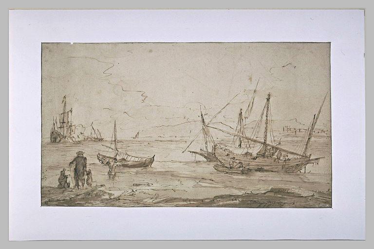 Une baie avec des navires, et des barques