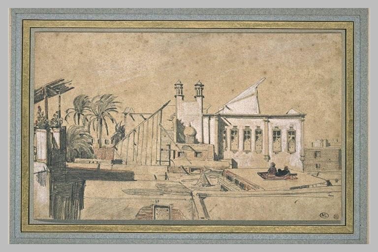 Terrasse d'une maison au Caire