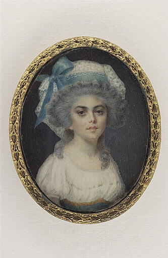 ISABEY Jean-Baptiste : Portrait de mademoiselle Férès