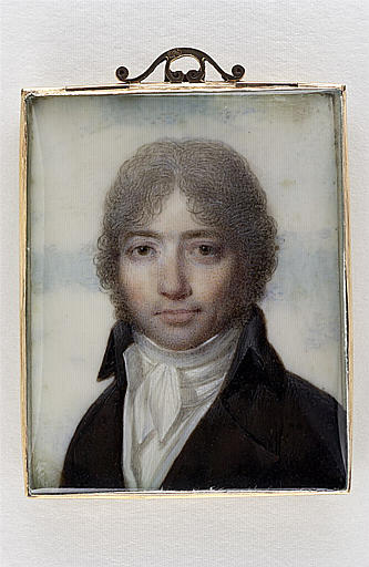 ISABEY Jean-Baptiste : Portrait de monsieur Férès, secrétaire de Marie-Antoinette