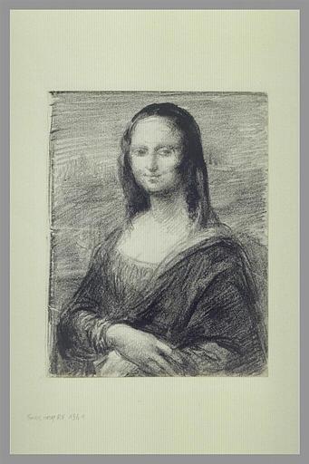 CARPEAUX Jean-Baptiste, VINCI Leonardo da (inspiré par) : La Joconde