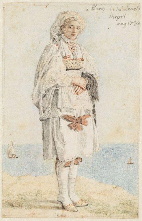 Portrait de la signora Lenetta Shepri, à Paros