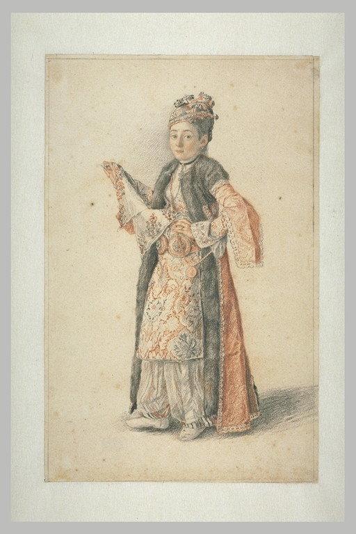 Jeune femme de Constantinople au foulard brodé