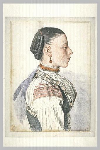 Portrait d'une jeune Romaine
